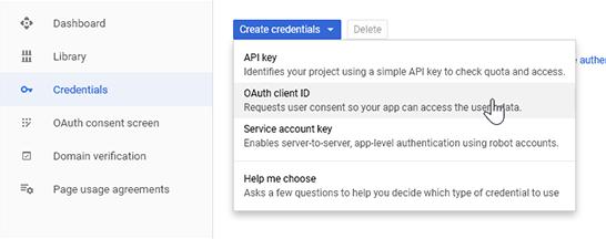 Create an OAuth Client ID