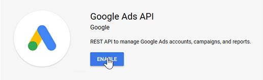 Enabling Google Ads API