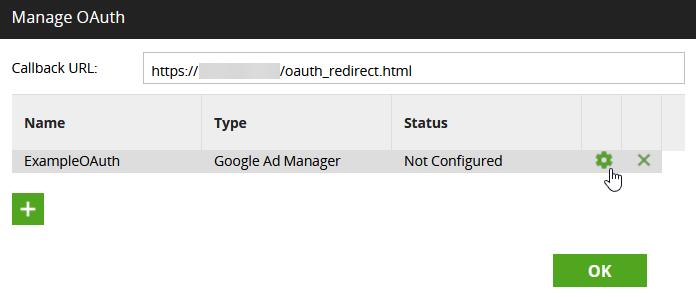 Configure OAuth settings