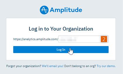 Log in to organization