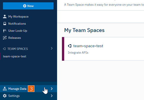 Team Spaces dashboard