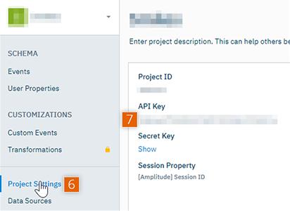 Copy API Key and Secret Key