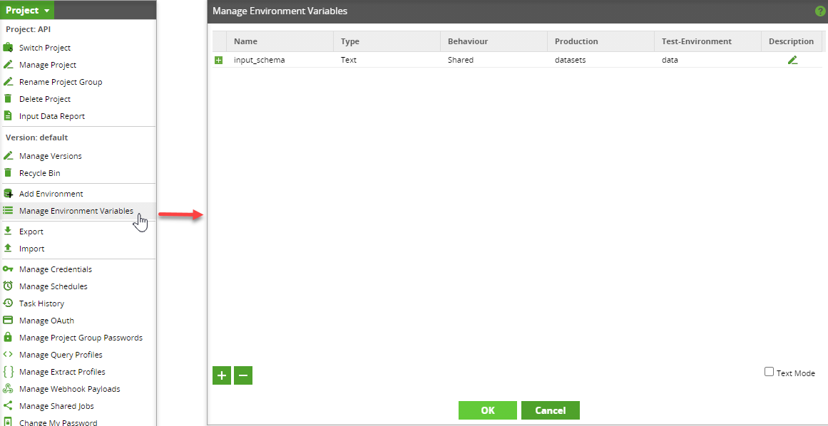 Manage Environment Variable
