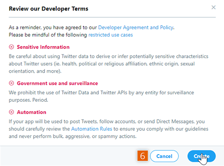 Review Twitter's Developer Terms
