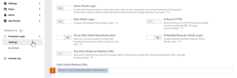 Client OAuth Settings