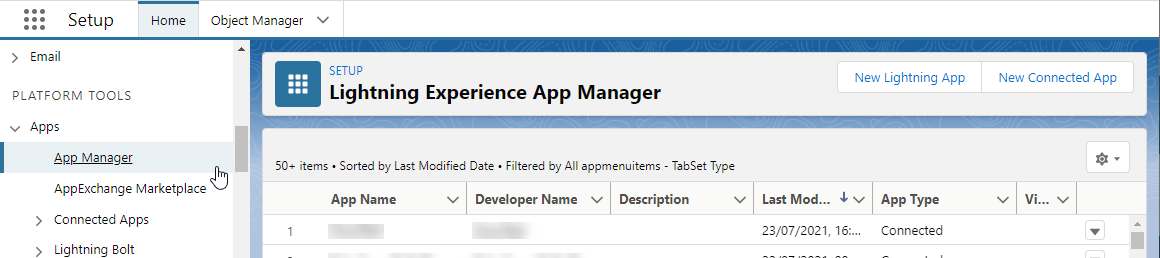 Lightining Experience App Manager