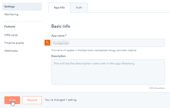 Provide basic info for app