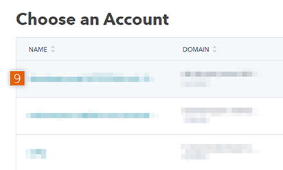 HubSpot account confirmation