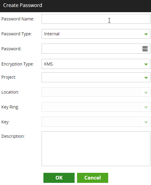 Creating a password using GCP KMS