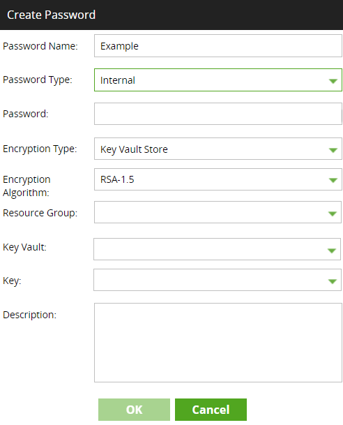 Creating a password using Azure Key Vault Store