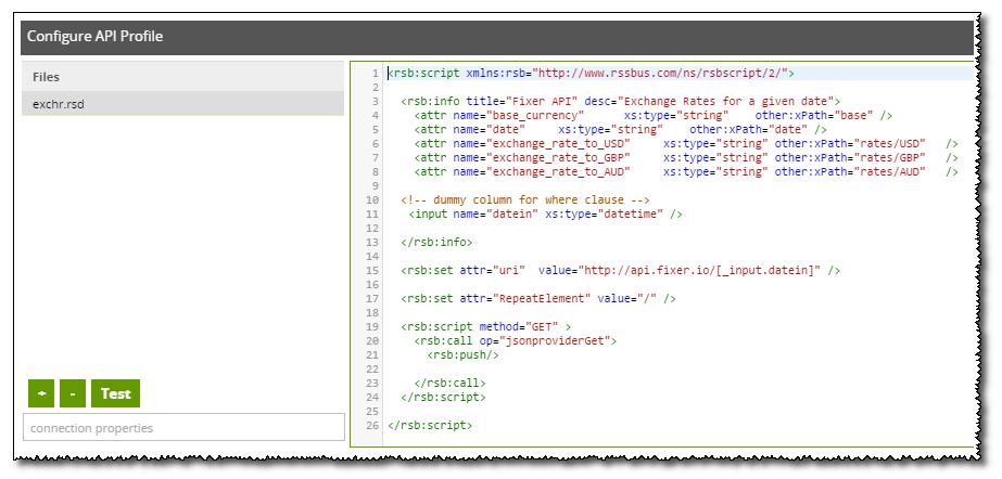 Configure API Profile