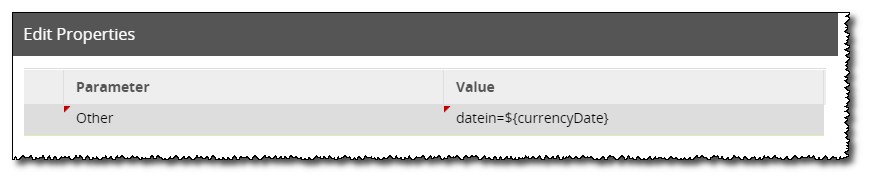 Edit Connection Parameters