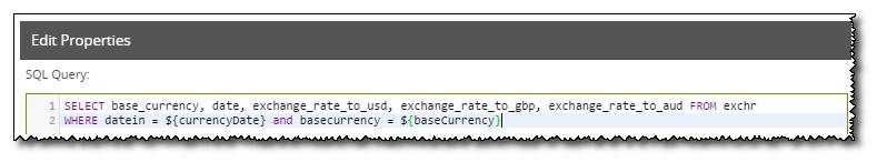 Edit SQL Query Properties