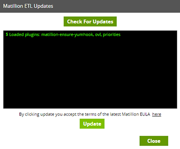 Matillion ETL Updates