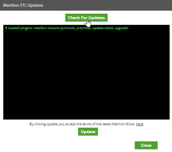 Matillion ETL Updates