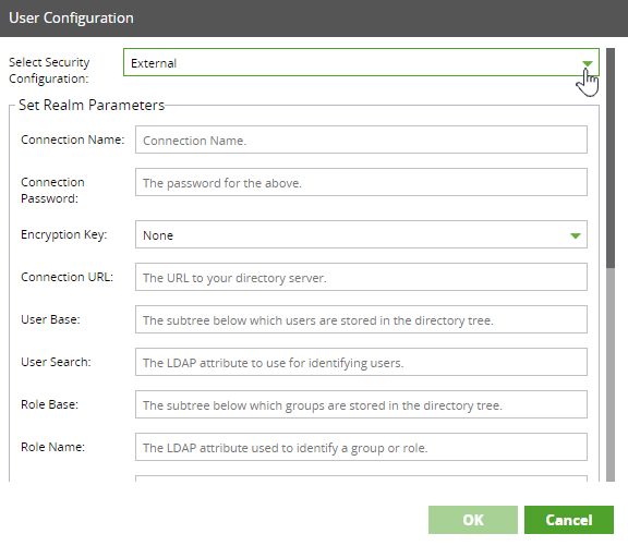 External Security Configuration