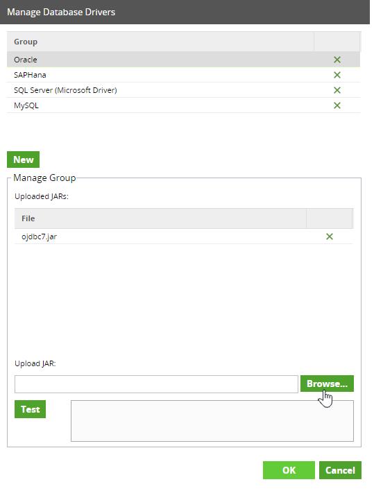 Manage Database Drivers