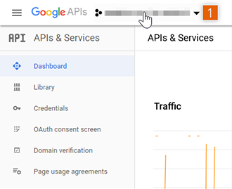 Google API & Services page