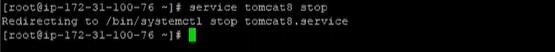 Stop tomcat service