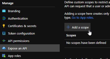 Expose an API