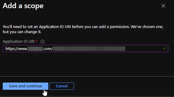 Application ID URI