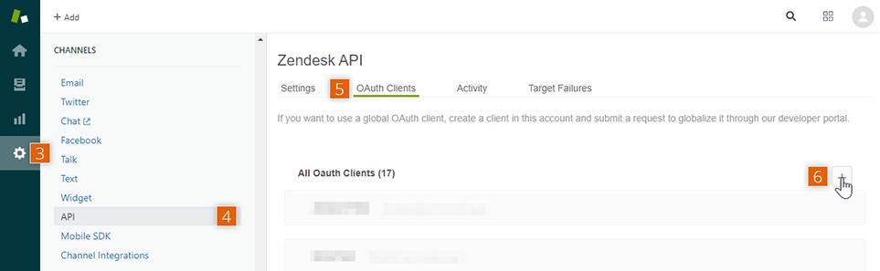 Zendesk API dashboard
