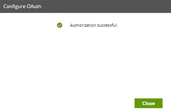 OAuth Authorization successful