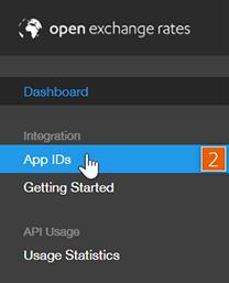 Open Exchange Rates dashboard