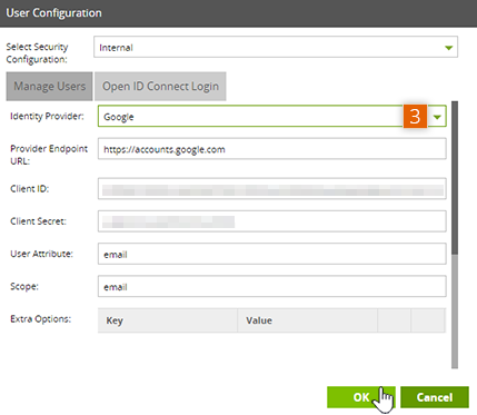 OpenID Connect Login tab