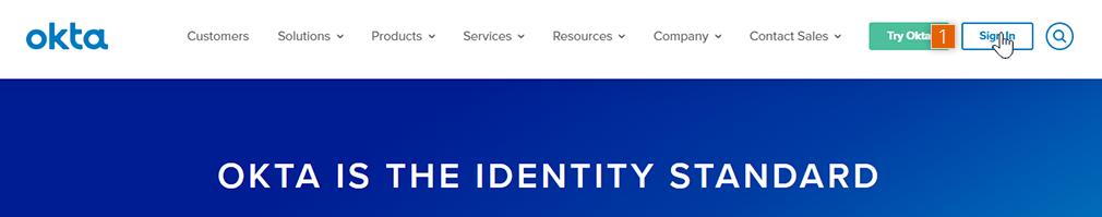Sign in to Okta website