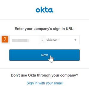 Enter Okta account subdomain