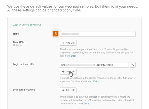 Edit Application Settings