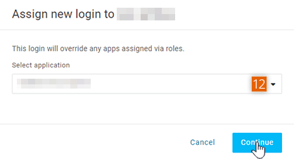 Assigning new login to application