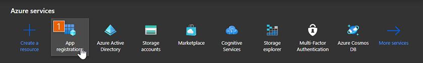 Microsoft Azure dashboard