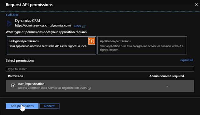 Add API Permissions