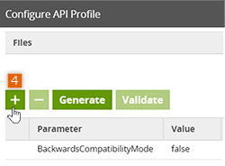 Configure API Profile