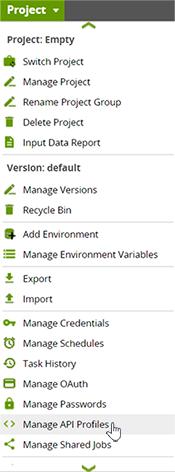 Manage API Profile