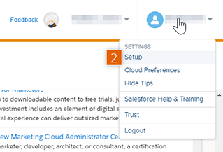 Salesforce Marketing Cloud dashboard
