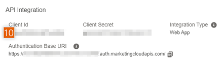 Client Id, Client secret and Authentication Base URI Subdomain