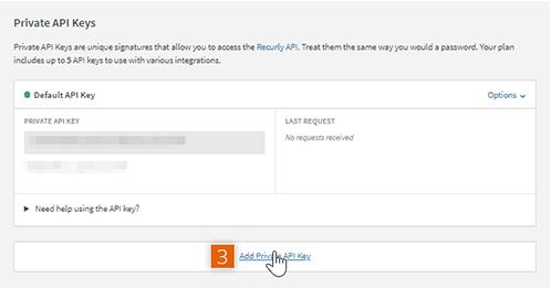 API Credentials page