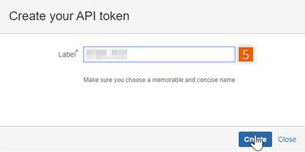 Create your API token
