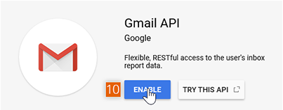 Enabling Gmail API