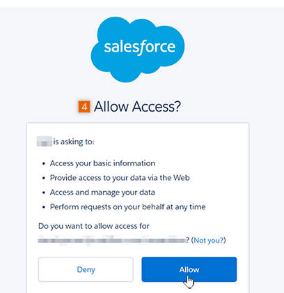 Confirm Salesforce output User