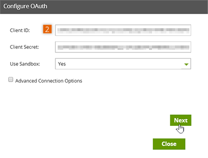 Configure OAuth settings