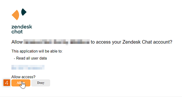 Allow access to Zendesk Chat account