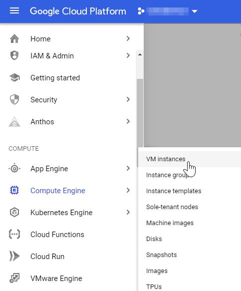 Google Console-VM Instances