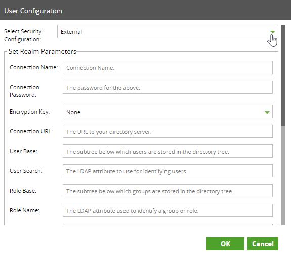 External User Configuration